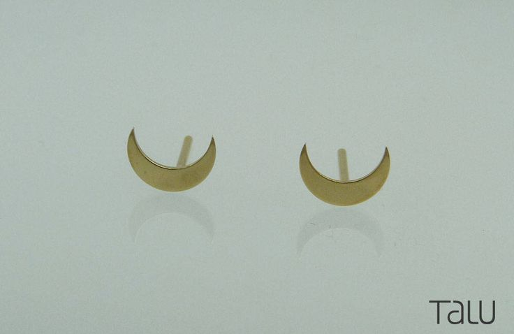 A personal favourite from my Etsy shop https://www.etsy.com/listing/524098207/14k-solid-gold-moon-gold-earrings-gold