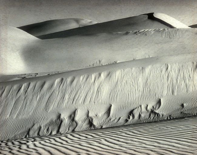 Dunes, Oceano, 1936 Edward Weston (American, 1886–1958) Gelatin silver print 7 5/8 x 9 5/8 in. (19.3 x 24.4 cm) Ford Motor Company Collection, Gift of Ford Motor Company and John C. Waddell, 1987 (1987.1100.129) © 1981 Center for Creative Photography, Arizona Board of Regents