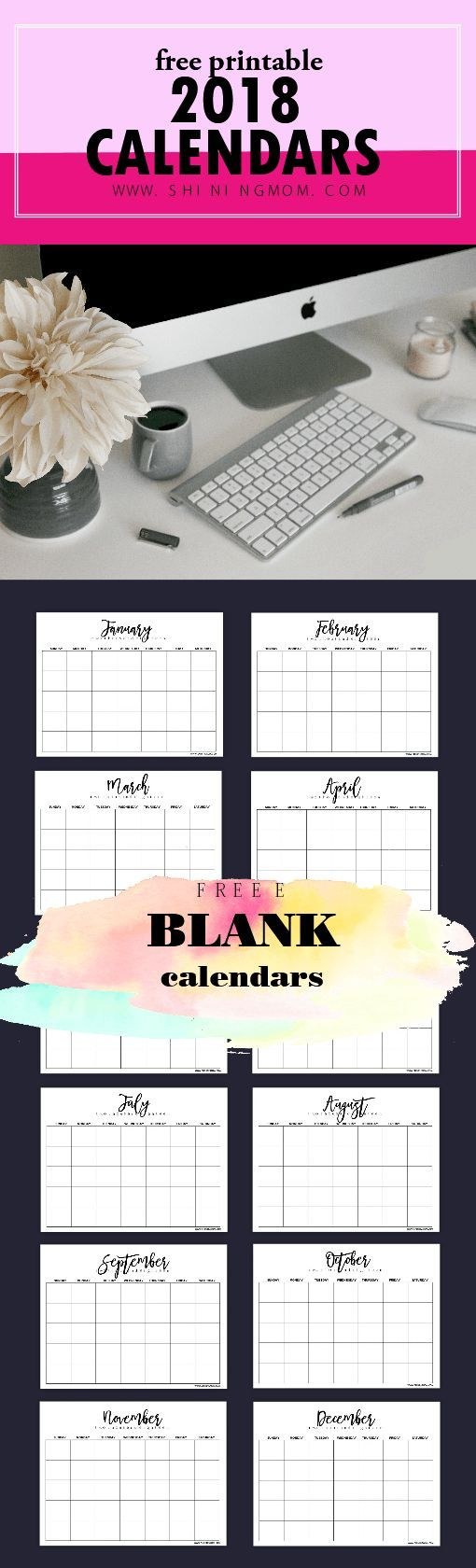 Get this awesome free editable blank calendar 2018 templates now! #editablecalendar #2018calendar #calendar2018printable