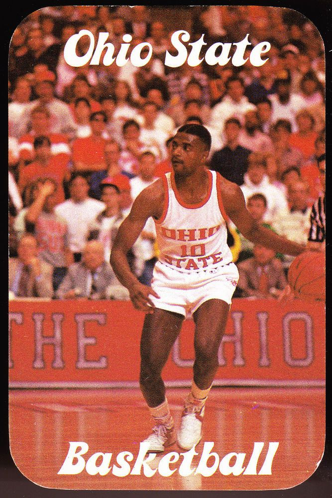 1987-88 OHIO STATE BUCKEYES MENS BASKETBALL POCKET SCHEDULE FREE SHIPPING #Pocket #SCHEDULE