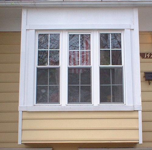 Box Bay Window Under Overhang