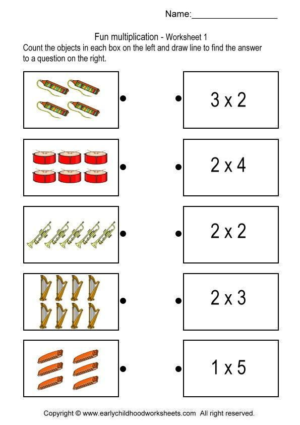 multiplication match Multiplication worksheets