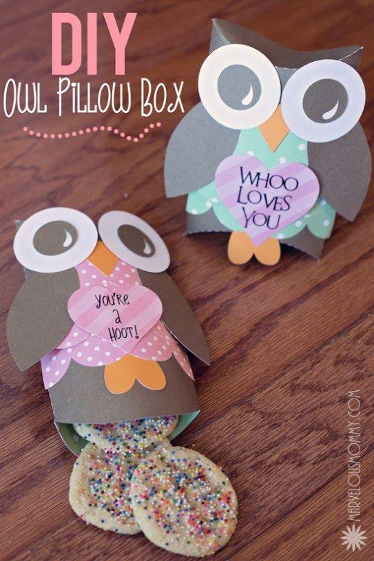 DIY Owl Pillow Boxes Tutorial