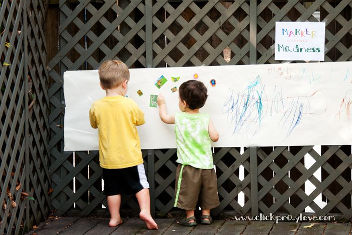 Graffiti date- put butcher paper on a wall, let the kids go to town, can make cards this way too send to the Troops or Missionaries.