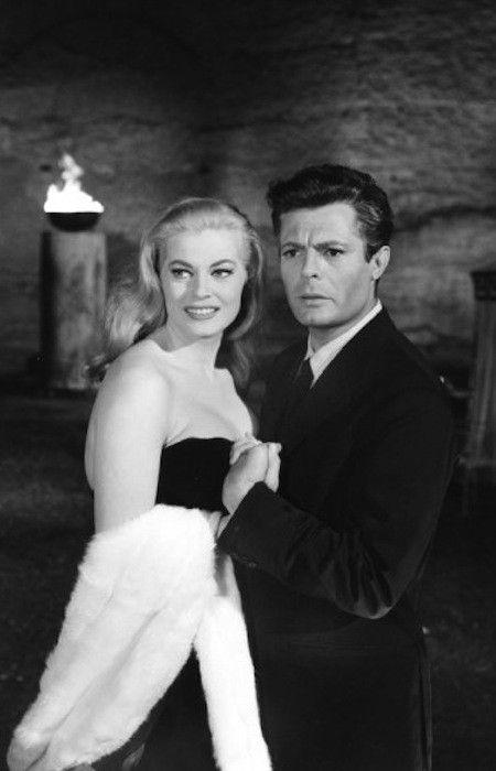 Marcello Mastroianni and Anita Ekberg in La Dolce Vita (Fellini, 1960)