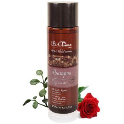 Herbal Shampoo voor alle haartypes. 200ml. respecteerd de hoofdhuid