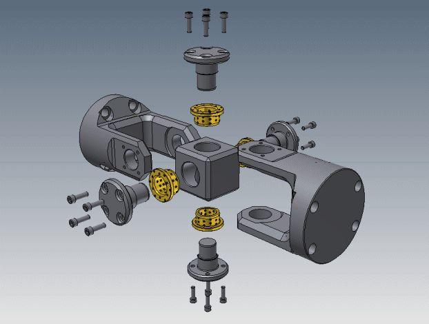 Universal Joint (Graphite Bushes) - STEP / IGES,STL,Autodesk Inventor - 3D CAD model - GrabCAD