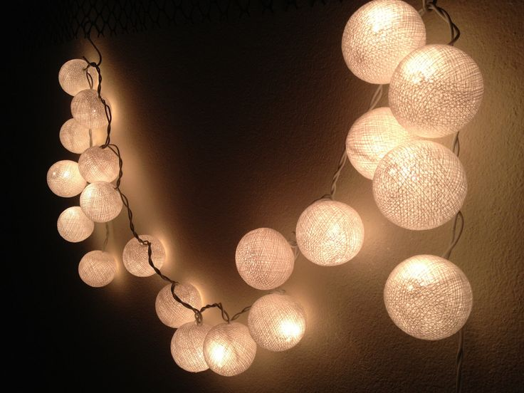 Decorative Light Balls Glamorous 95 Best String Lights  Cotton Ball Wall Hanging Home Decor Inspiration
