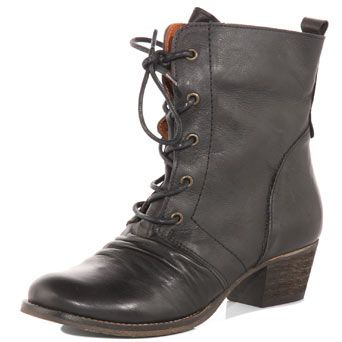 Black lace up leather bootsBlack Lace