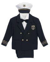 Amazon.com: Infant, Toddler and Boys 5-pc Dress Sailor Suit with Nautical Blue Blazer & Captain's Hat Sizes 9-24MO 2T-4T, 5-7: Clothing