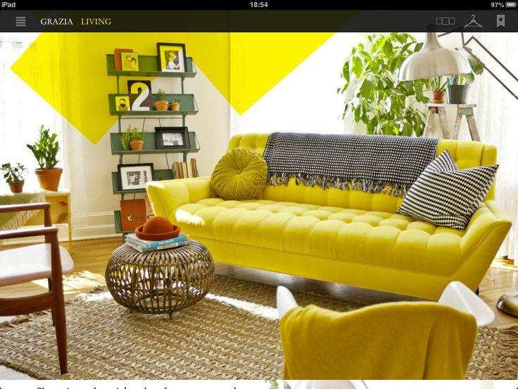 27 Best Divano Giallo Images On Pinterest Yellow Couch