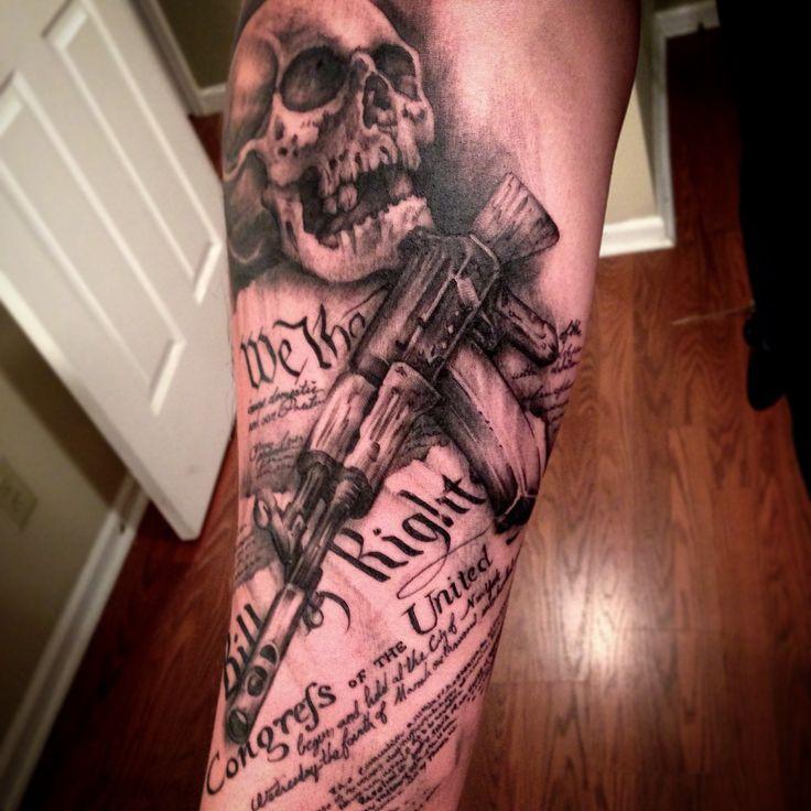 Skull Ak47 Constitution 2nd Amendment Gun