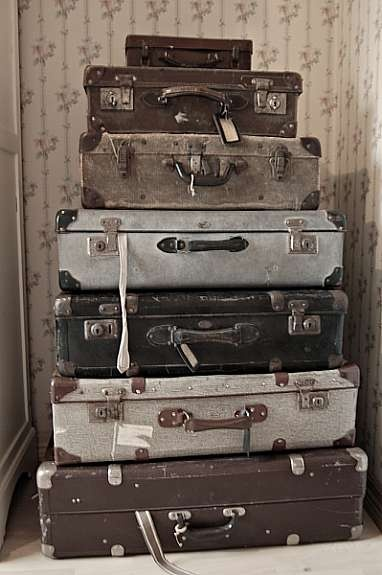 ∷ Variations on a Theme ∷  Collection of old suitcases