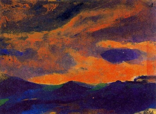 Dark Sea with Brown Sky by Emil Nolde: