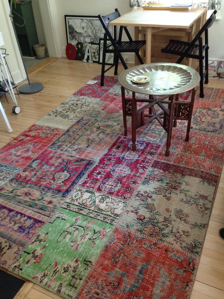 patchwork vintage Turkish rug from IKEA. Home
