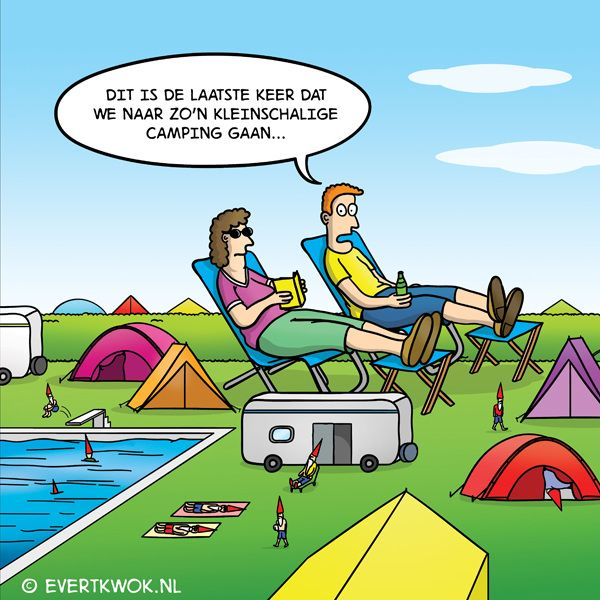 Kleinschalige camping. #cartoon