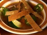 Mexican Tortilla Chicken Soup Recipe - Made this tonight and it is definitely a keeper! Yummy!