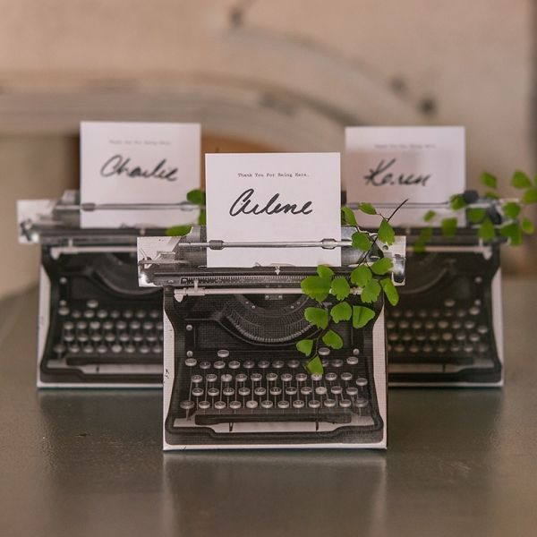 Vintage Inspired Typewriter Favor Box Kit