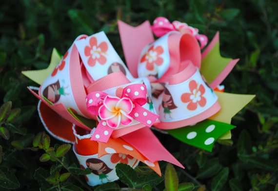 Summer Hawaiian Luau Hair Bow