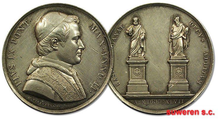 22.as.PAPIESTWO, MEDAL - BASIL VATICANAE ... 1847