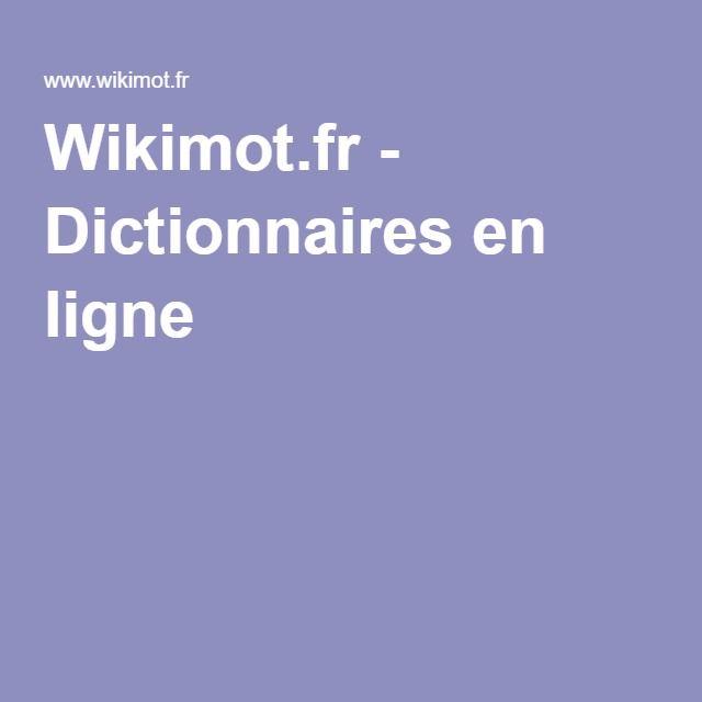 Wikimot.fr - Dictionnaires en ligne