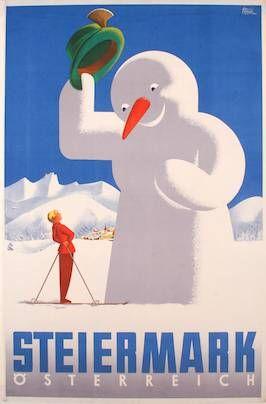 ... steiermark poster by herbert walter türk, ~1950–1959.