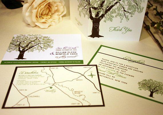 SAMPLE Of Grandfather Oak Tree Wedding Invitations, Rustic And Modern