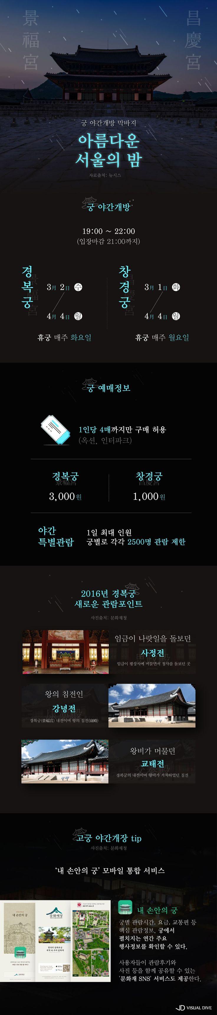 운치있는 '고궁 야간개장' 다음달 4일까지 [인포그래픽] #palace / #Infographic ⓒ 비주얼다이브 무단 복사·전재·재배포 금지
