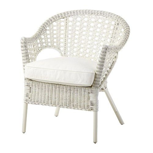 FINNTORP / DJUPVIK Armchair with cushion, white