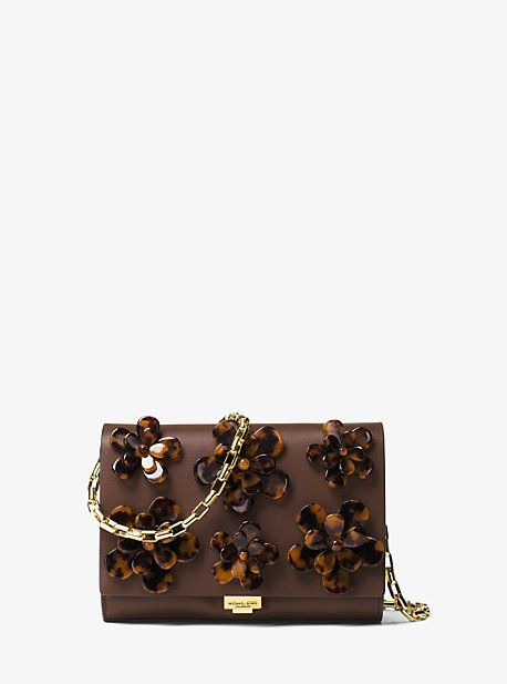 Yasmeen Small French Calf Floral Clutch