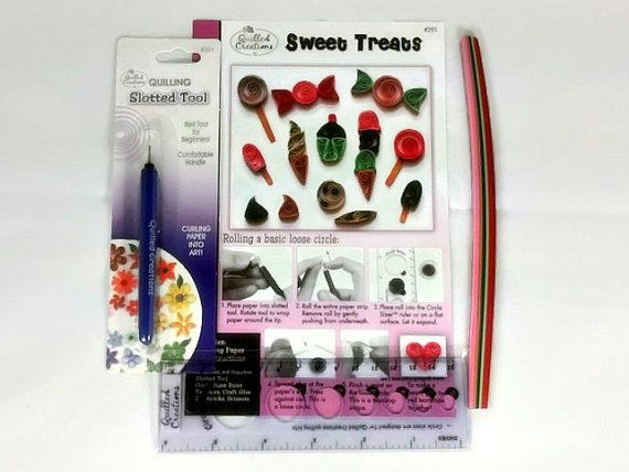 Paper Quilling Kit Starter Kit for by SweetheartsandCrafts on Etsy