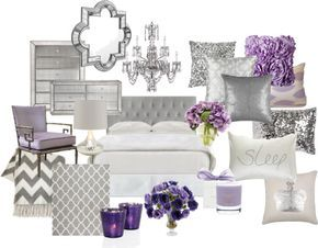 """""""Lavender and Grey Bedroom"""" by chloeg01 on Polyvore"""