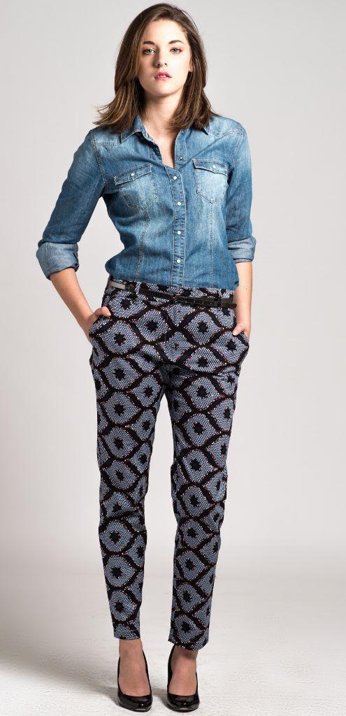 pantalon cigarette en wax Africain n°5 : Pantalons, jeans, shorts par openya-couture