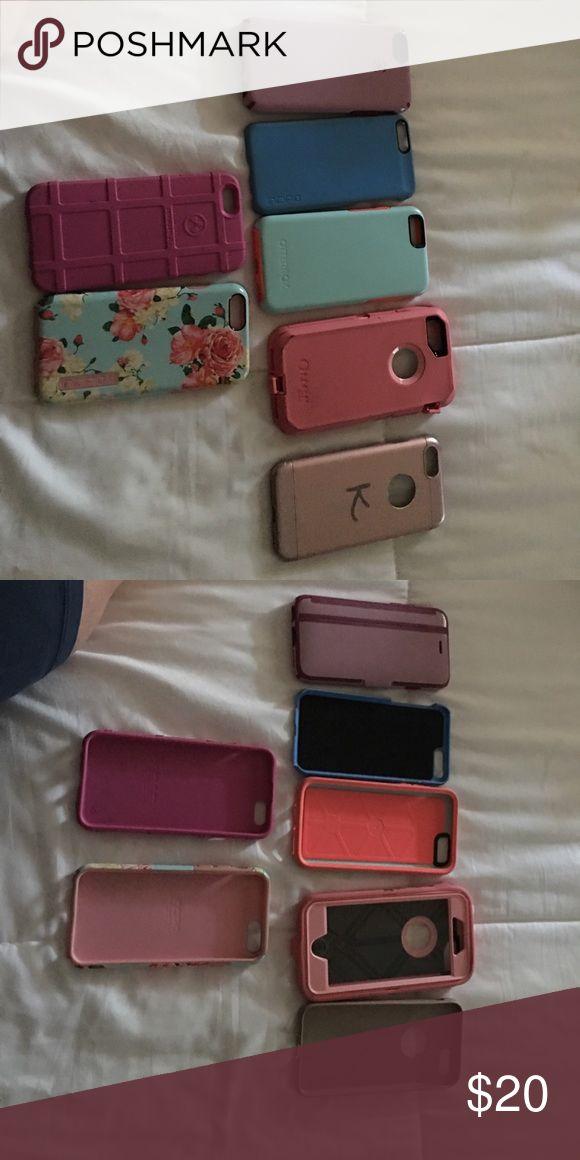 iPhone 6 cases. Lot of 7 iPhone 6 cases. 7 Total. Speck,Otterbox, Magpul, Incipio. Accessories Phone Cases