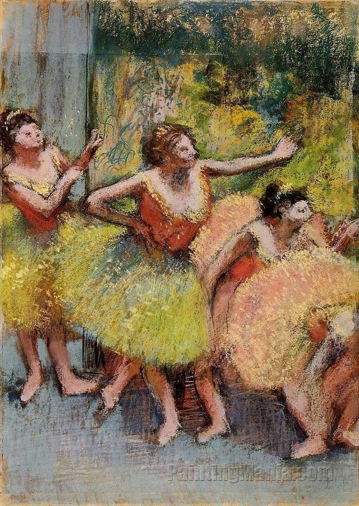 Dancers in Green and Yellow by Edgar Degas