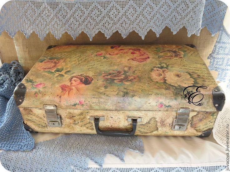 Чемодан..Бабушкино детство.. - коричневый,старина,чемодан,хранение,интерьерное украшение