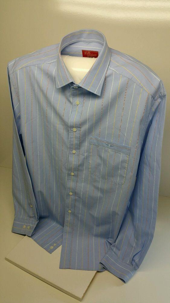 RM Williams Light Blue Long Sleeved Shirt Size XXL 100% Cotton Longhorn Logo