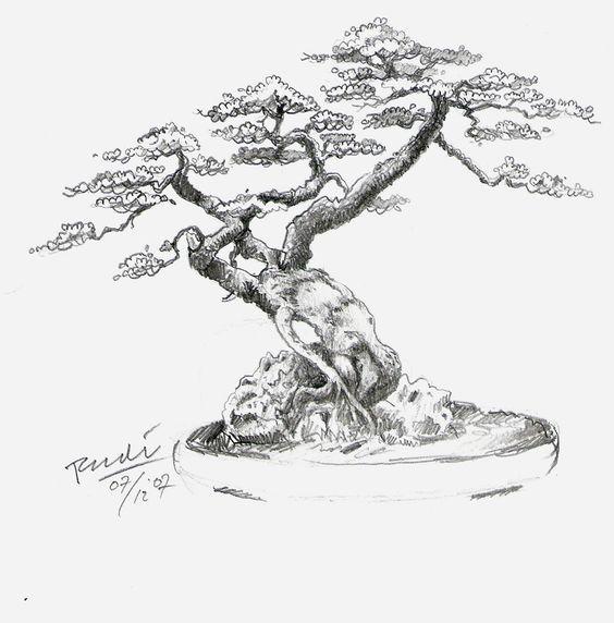 Ms de 25 ideas increbles sobre Tatuaje de bonsai en Pinterest