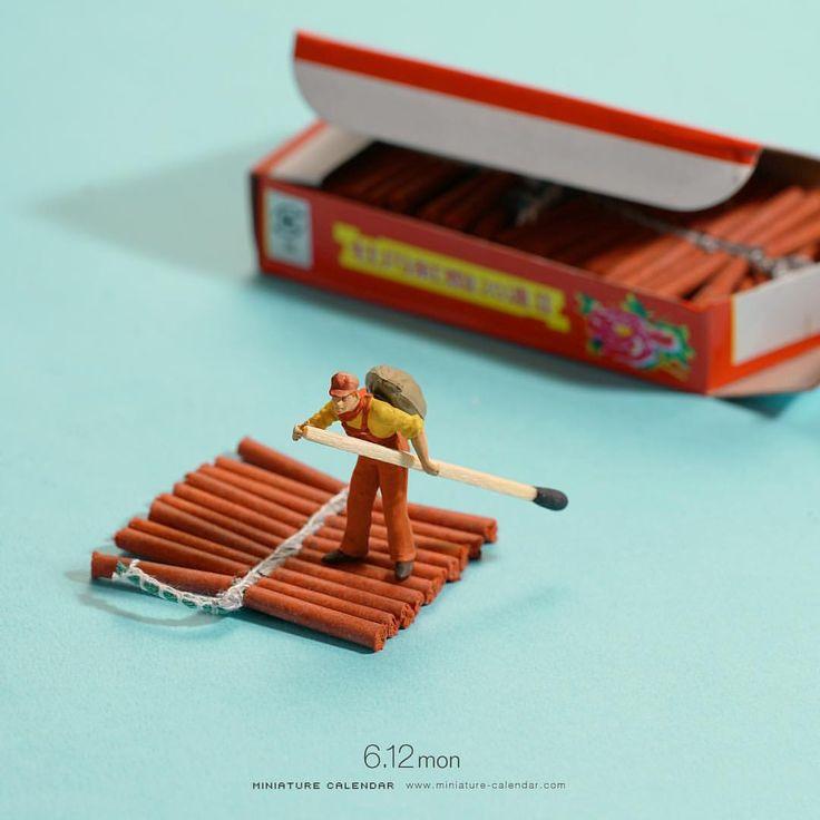 "23.3k Likes, 34 Comments - 田中達也 Tatsuya Tanaka (@tanaka_tatsuya) on Instagram: "". 6.12 mon ""Dangerous Raft"" . 一世一代の大博打 . #爆竹 #筏 #マッチ棒 #パドル #Firecracker #Raft #Matchstick #Paddle…"""