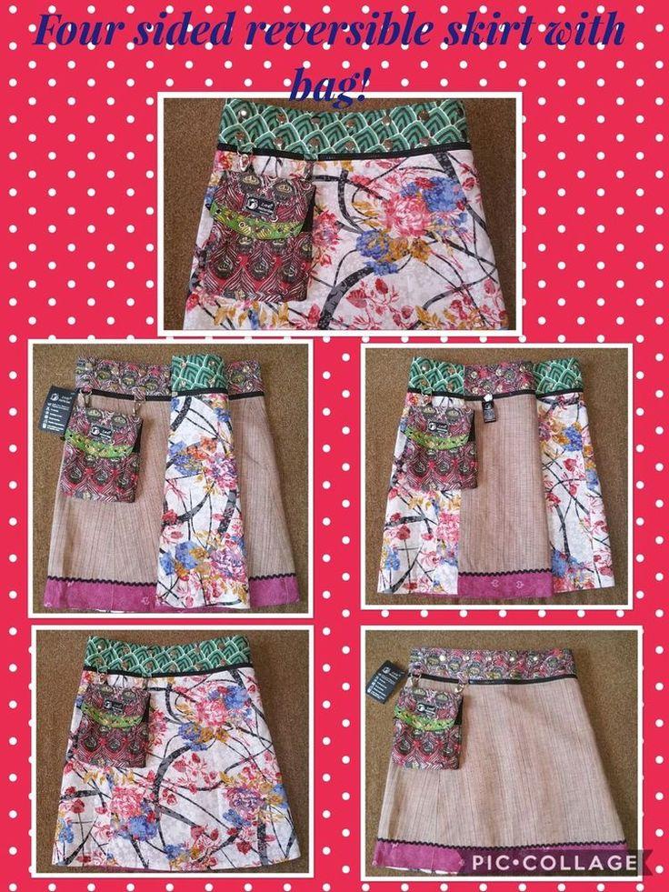 Reversible Zand Amsterdam fair Trade Skirt  | eBay #reversibleskirt #ethicalfashion