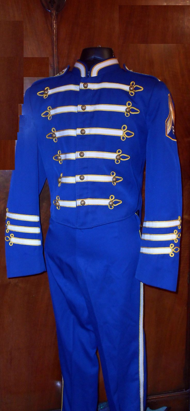 blue cadet uniform with tails, very classic style