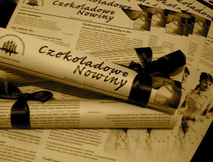 Chocolate newspaper