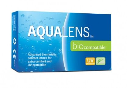 AQUALENS Biocompatible 3pack - 10.00€ - Μηνιαίος μαλακός φακός επαφής, υδρογέλης. Βιομιμητικός με Aquatract II (επίστρωση για καλύτερη ενυδάτωση) για ακόμα περισσότερη άνεση. Προστασία UV.