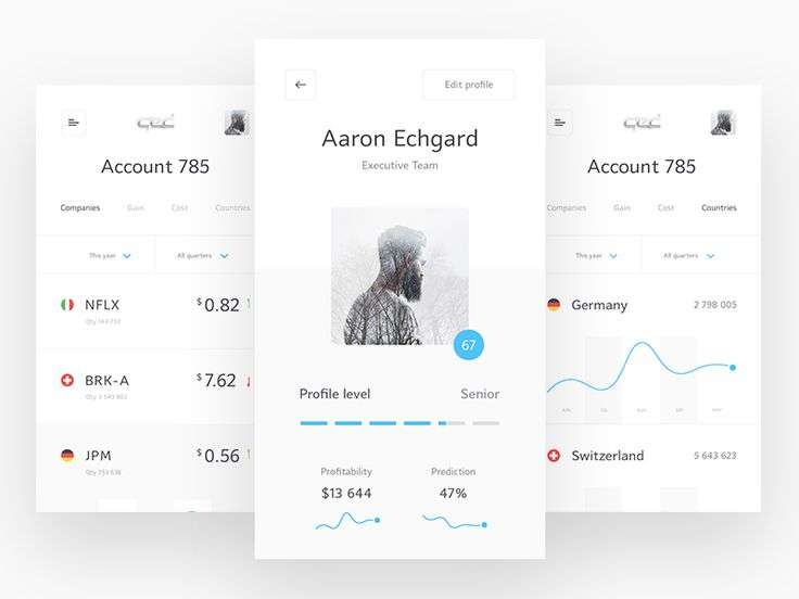 User account design for microfinance mobile app. More: http://www.aminis.ru/qed.html