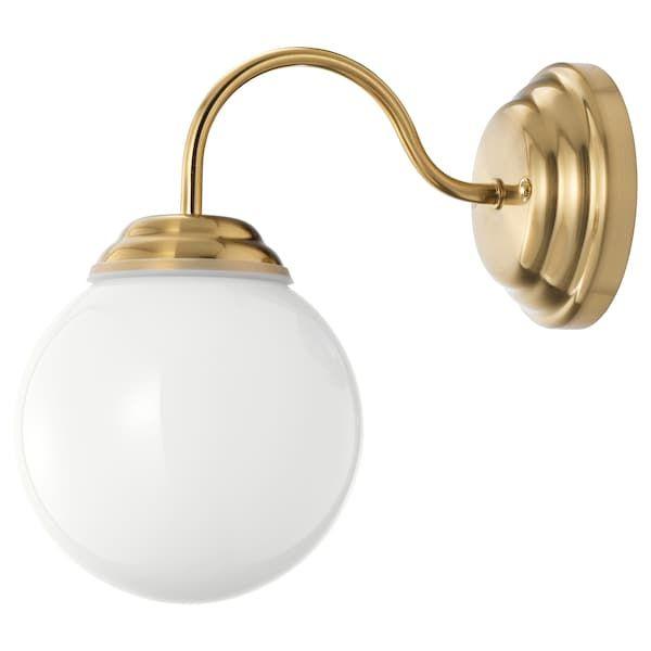 Lillholmen Wall Lamp Brass Color Ikea Wall Lamp Ikea Sconce Lamp
