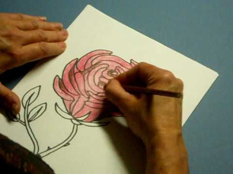 Flower Coloring Pages - thecoloringbarn.com  I see free applique and embroidery pages.