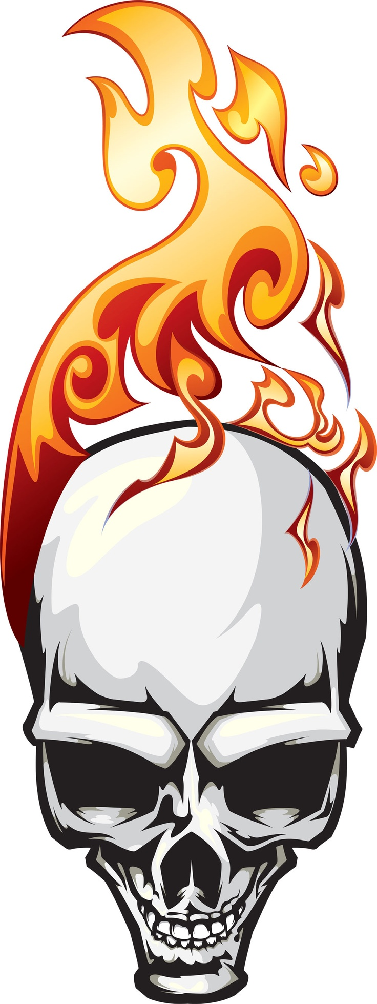 Flaming skull - Original is a vector