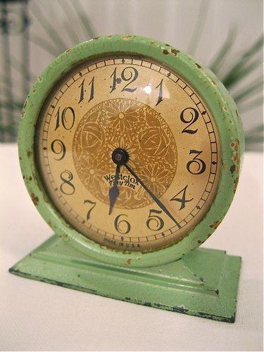 "1928 Westclox ""Tiny Tim"" Clock Original Jade Green Running | eBay"