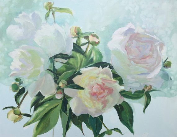 Painting of peonies for sale