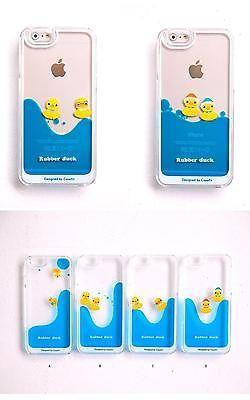 Casefit Cute Rubber Duck Liquid Fluid Aqua iPhone 5/5S/6/6plus Case from Korea
